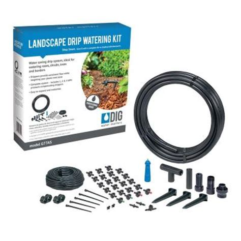 dig drip irrigation watering kit g77as the home depot