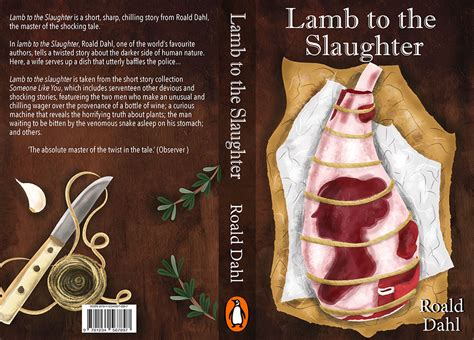 themes in the story lamb to the slaughter roald dahl book cover design and illustrations liv wan