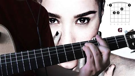 warrior demi lovato e chords demi lovato warrior guitar chords tutorial youtube