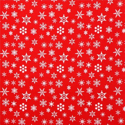 wallpaper christmas material red riley blake snowflake xmas fabric holiday banners