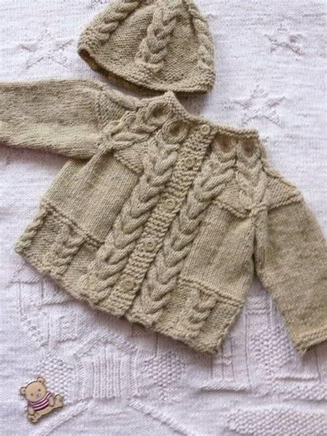 stricken babysachen adorable boys cardigan cap crafted baby