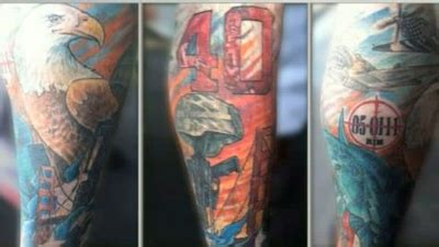 jonny gomes tattoo jonny gomes tattoos honor servicemen says those