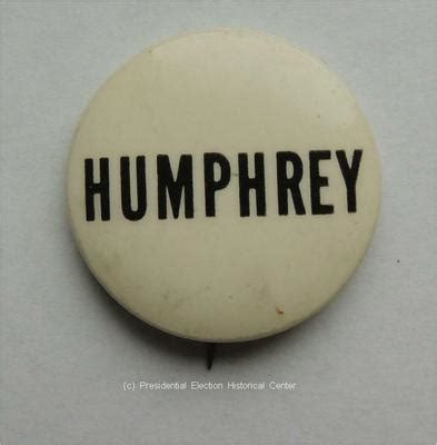 Humphrey White hubert humphrey white with black letters caign button