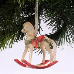 rocking horse foundations heart of christmas ornament