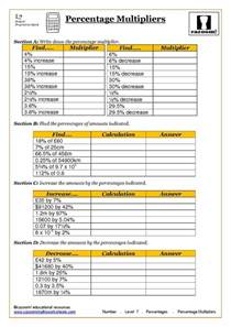 fractions and percentages worksheets