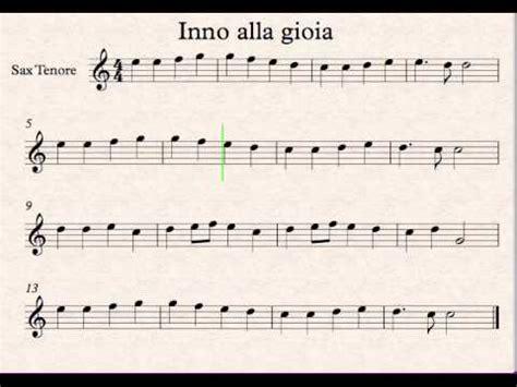 il clarinetto testo inno alla gioia sax tenore
