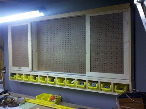 Pegboard Cabinet Doors Sliding Door Shop Cabinet By Timthetoolman Lumberjocks Woodworking Community