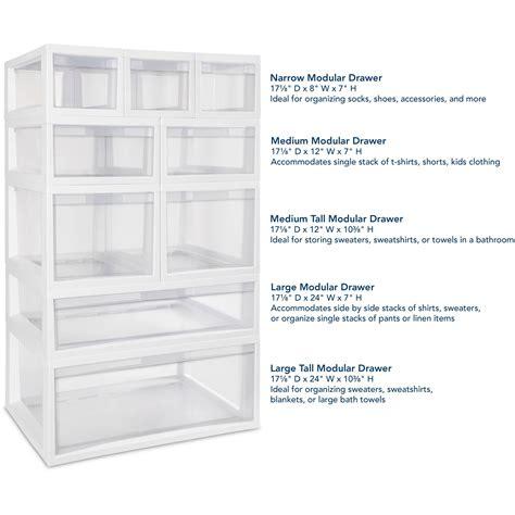 sterilite 2360 medium modular drawer sterilite large modular storage drawers best storage