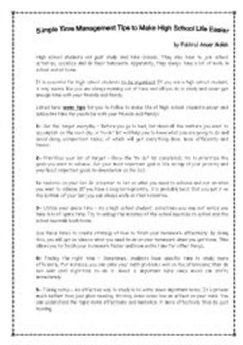 Time Management Worksheet For High School Students by Time Management For High School Students