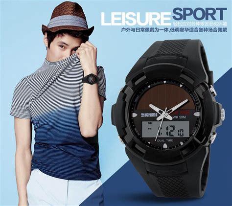 Jam Tangan Casio Skmei Pria Led Tangguh Tahan Air Anti Diskon skmei jam tangan solar digital analog pria ad1056e