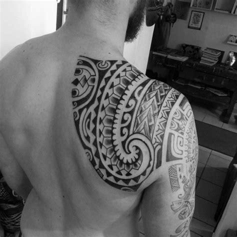 shoulder polynesian tattoo designs 80 tribal shoulder tattoos for masculine design ideas