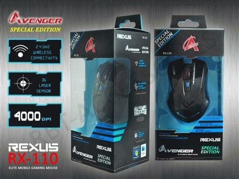 Mouse Gaming Wireless Rexus Rx 110 Special Edition mds mouse gaming rexus g4 g6 110 avenger dan x1 warrior