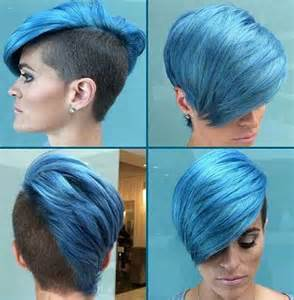 blue new hairdo 15 cool funky short hair styles short hairstyles 2016