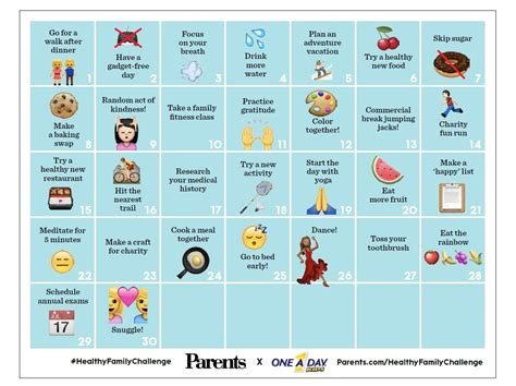 the health challenge 30 day healthy family challenge parents