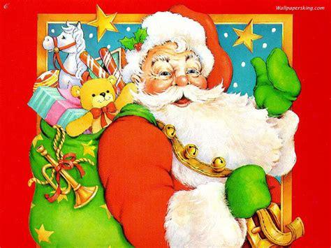 christmas wallpaper with santa claus santa claus christmas wallpaper 2736289 fanpop
