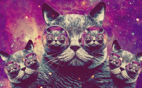 Trippy Cat Wallpapers   WallpaperSafari