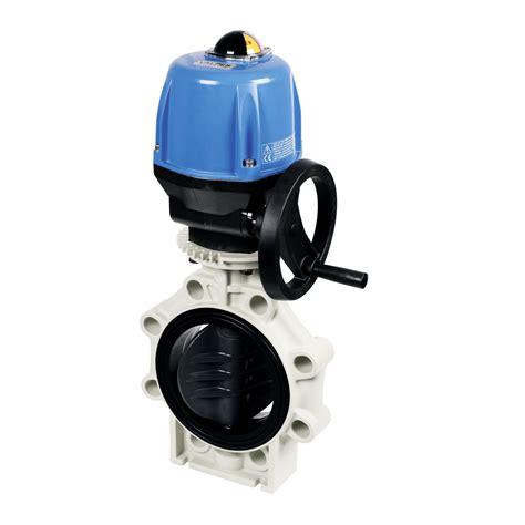praher butterfly valve k4 pvc u electric actuator valpes
