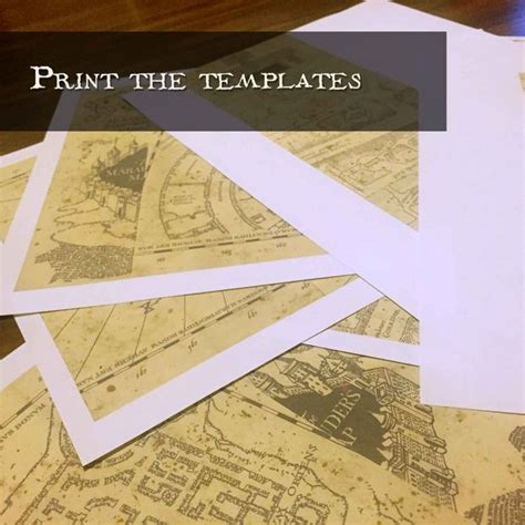 Marauder S Map Template Harry Potter And Printing Marauders Map Template