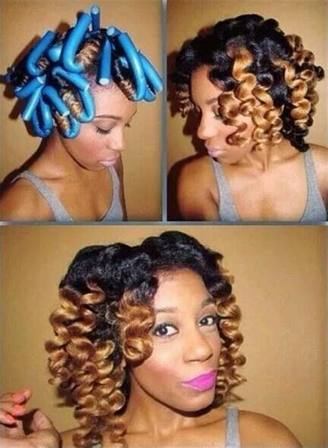 hot rods on relaxed hair 165 best images about roller set rod set on pinterest