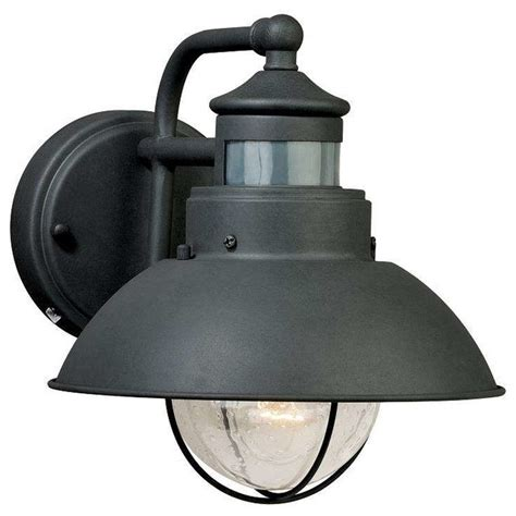 Motion Sensor Outdoor Lighting by Vaxcel Lighting T0126 Harwich Outdoor Motion Sensor Wall Light Textured Gray Industrial