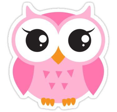 Home Design For Windows 7 by Quot Cute Pink Baby Owl Sticker Quot Stickers By Mheadesign