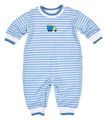 Romper Truck Stripe florence eiseman baby boys blue striped knit romper with