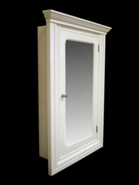 st recessed medicine cabinet white finish
