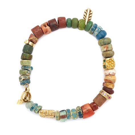 gold beaded bracelet gold rainbow beaded bracelet elisa solomon jewelry