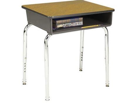 Adjustable Height Open Front School Desk Laminate Top Open Front Student Desk