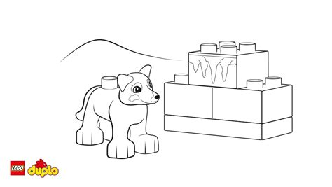 Lego 174 Duplo 174 Husky Coloring Page Coloring Page Lego Duplo Coloring Pages