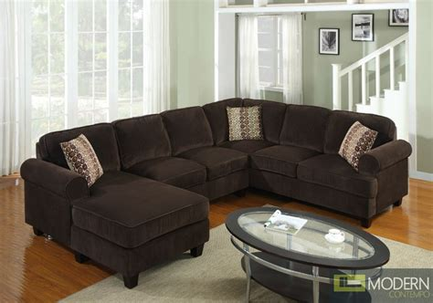 chocolate corduroy sectional sofa 3 pc modern brown corduroy sectional sofa living room set