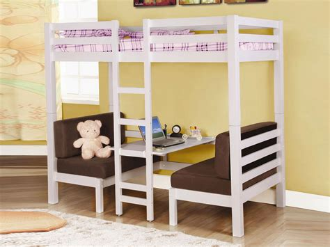 loft bed with futon underneath bed with couch underneath home design