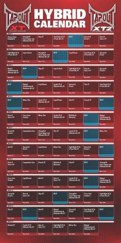 printable tapout xt calendar found on tapoutxtschedule com