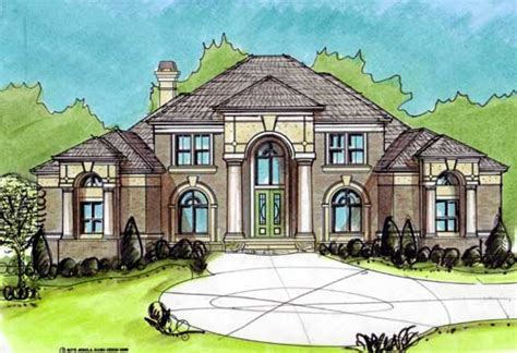 two story mediterranean house plans mediterranean style house plans 2998 square foot home 2 story 5 bedroom and 4