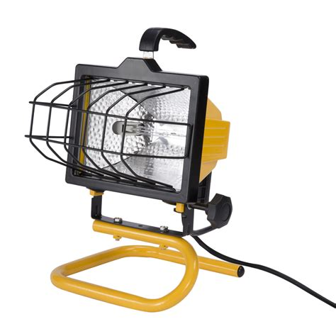 Lowes Shop Lights by Shop Utilitech 1 Light 500 Watt Halogen Portable Work