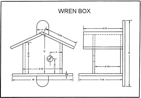 house dimensions online wren bird house plans woodworker magazine