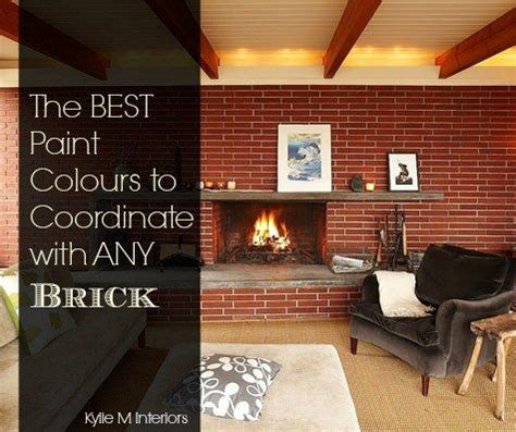 the best paint colours for walls to coordinate with a brick fireplace fireplaces paint colors