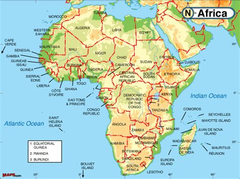 africa map lakes obryadii00 physical map of africa with rivers