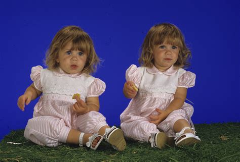 Ashley Olsen And Mary Kate Olsen Were Photographed For Full House In Mary Kate And