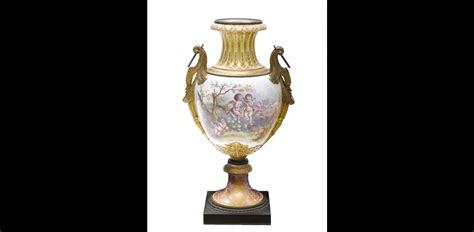 Earthenware Vase by Large Sevres Style Gilt Bronze Mounted Earthenware Vase Late 19th Century Maglin Tangible