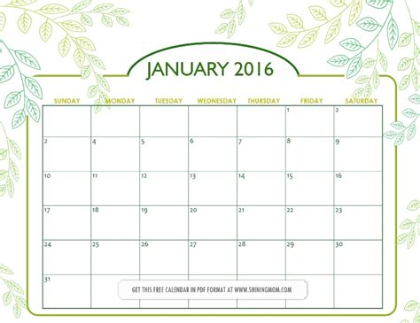 printable january 2016 day planner all lovely free printable january 2016 calendars