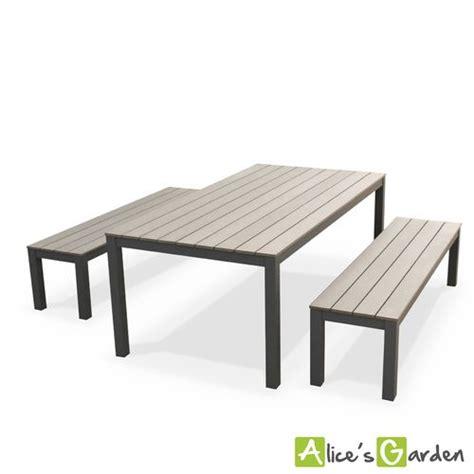 salon de jardin polywood s garden salon de jardin antibes table 200cm 8 places gris polywood bois bancs aluminium