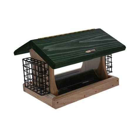 shop birds choice cedar 5 quart hopper bird feeder at