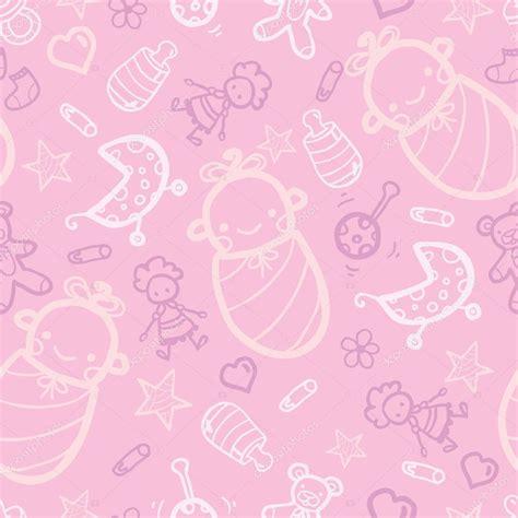 Baby Pink Bb beb 234 menina rosa sem costura fundo vetor de stock