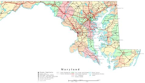 united states map of maryland maryland map