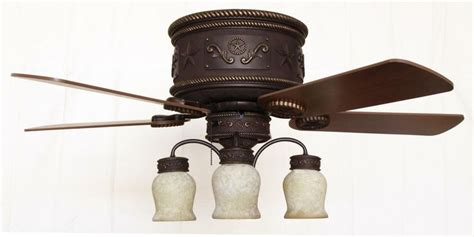 western ceiling fans with lights rustic ceiling fans western star ceiling hugger fan
