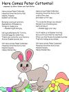printable lyrics here comes peter cottontail here comes peter cottontail activities