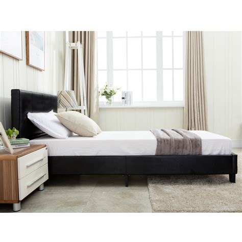 twin bed slats twin size platform bed frame faux leather slats