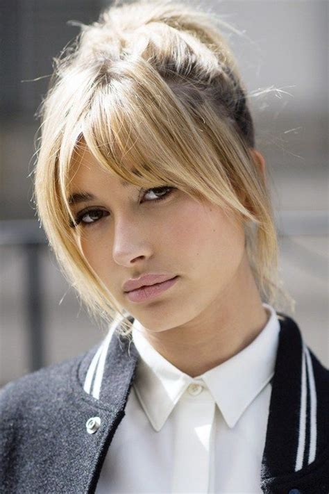 hairstyles with bangs pulled up 36 times hailey baldwin s hair makeup stole the show