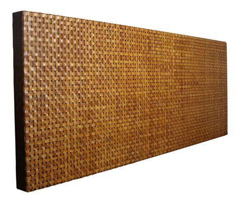 woven aged leather headboard chairish